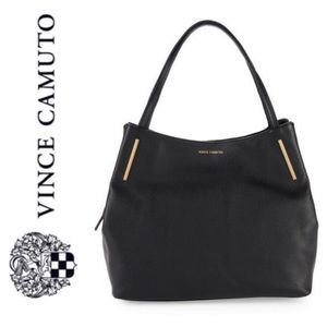 NWT Vince Camuto genuine leather tote black